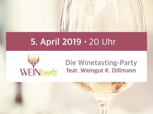 WEINbeats Die Winetasting-Party am 5. April 2019